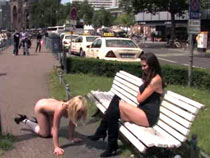 Public disgrace blonde punished