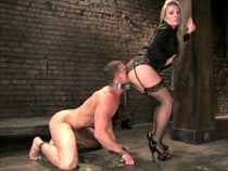 Male slave trained in dungeon